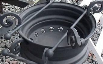 Мангал из автомобильных дисков