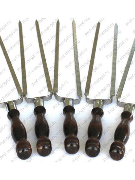 """Шампур """"Вилка"""" с деревянной ручкой"""